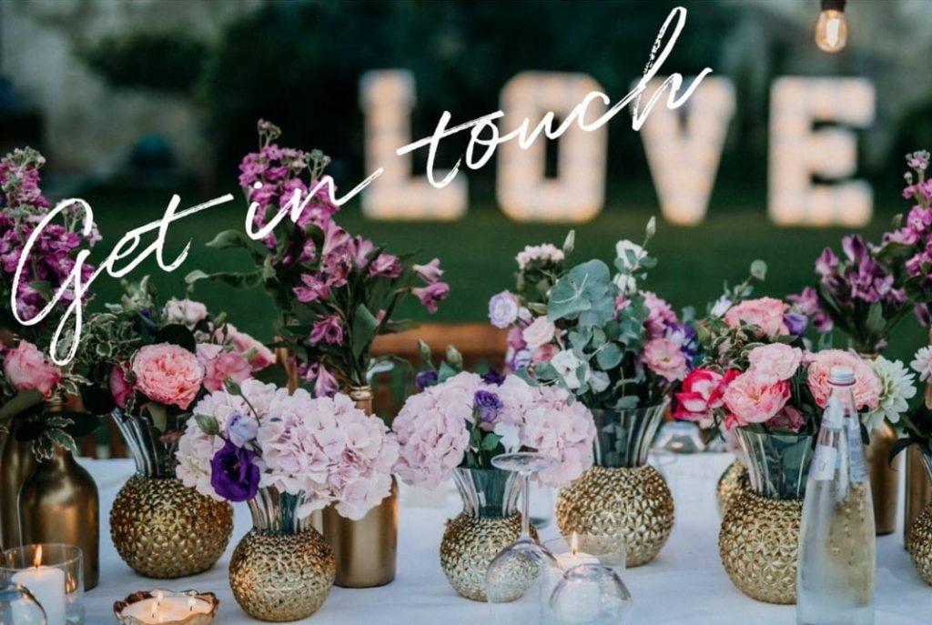 styling dinertafel huwelijk voor Panta Rhei